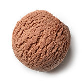 Chocolate ice cream ball Royalty Free Stock Photography
