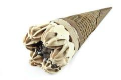 Chocolate ice cream cone Stock Photos