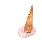 Chocolate ice cream cone fallen. Royalty Free Stock Photo