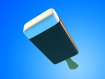 Chocolate ice cream 3d Illustrations. Royalty Free Stock Photography
