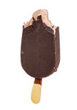 Chocolate ice cream in the glaze of dark chocolate Stock Photography