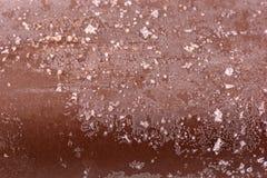 Chocolate ice cream macro detailed texture Stock Images