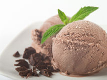 Chocolate ice cream Royalty Free Stock Images