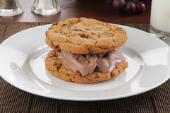Chocolate ice cream sandwich Stock Image