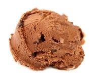 Chocolate ice cream scoop Royalty Free Stock Photos