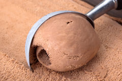Chocolate ice cream. Stock Photos