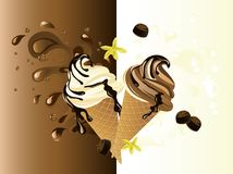 Chocolate ice cream Royalty Free Stock Photos