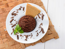 Chocolate ice cream Stock Image