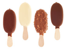 Chocolate ice creams Royalty Free Stock Images
