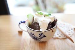 Chocolate icecream Stock Photos