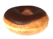 Chocolate Iced Ring doughnut royalty free stock photography