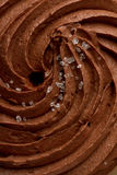 Chocolate icing. Swirl background closeup Royalty Free Stock Image