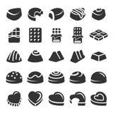 Chocolate icon set 4, vector eps10.  Stock Photo