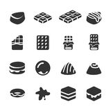 Chocolate icon set, vector eps10 Royalty Free Stock Images