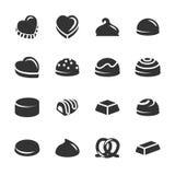 Chocolate icon set 2, vector eps10 Stock Image
