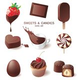 Chocolate icons stock illustration