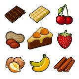 Chocolate icons set Stock Photography