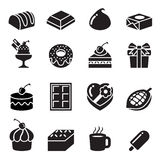 Chocolate Icons Royalty Free Stock Photo