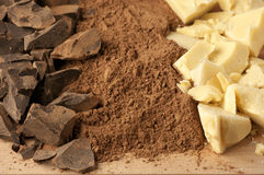 Chocolate ingredients Stock Photography