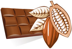 Chocolate and ingredients Stock Images