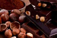 Chocolate and ingredients Royalty Free Stock Image