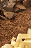 Chocolate ingredients Stock Images