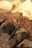 Chocolate ingredients Royalty Free Stock Image