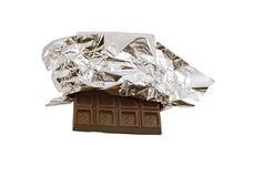 Chocolate isolado no branco Fotografia de Stock Royalty Free