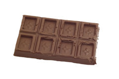 Chocolate isolado no branco Foto de Stock