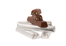 Chocolate isolado no branco Imagens de Stock