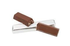 Chocolate isolado no branco Fotos de Stock
