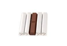 Chocolate isolado no branco Foto de Stock Royalty Free
