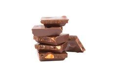 Chocolate isolado no branco Imagem de Stock