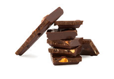 Chocolate isolado no branco Imagens de Stock Royalty Free