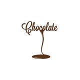 Chocolate isolated sign Stock Photos