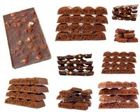 Chocolate isolated on white Royalty Free Stock Photos