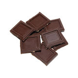 Chocolate isolated on white. Royalty Free Stock Image