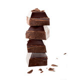 Chocolate isolated on white background Stock Images