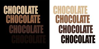 Chocolate, isolated word with the texture of chocolate vector illustration