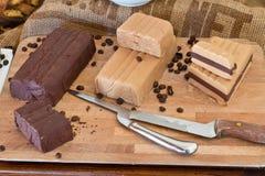 Chocolate italian buffet stock images