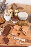Chocolate italian buffet royalty free stock image