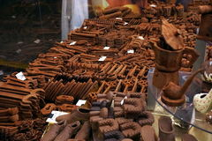 Chocolate items market Royalty Free Stock Photo