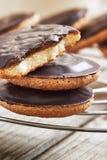 Chocolate jaffa cakes stock image