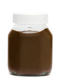 Chocolate is in a jar isolated Royalty Free Stock Photo