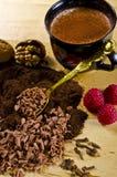 Chocolate and Kaffe Stock Image