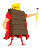 Chocolate king standing with crown Royalty Free Stock Photos