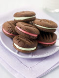 Chocolate Kiss Biscuits royalty free stock photos