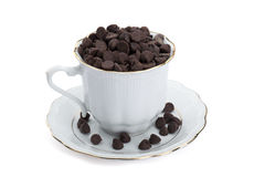 Chocolate kisses in a cup Royalty Free Stock Image
