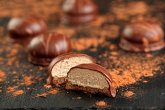 Chocolate kisses stock images