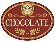 Chocolate label Stock Image